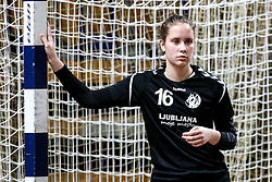 Karin Kuralt of RK Olimpija during handball match between RK Olimpija and ZRK Krka Novo Mesto in Round #10 of National Youth League in Season 2020-21, on May 2, 2021 in Hala Tivoli, Ljubljana, Slovenia. Photo by Matic Klansek Velej / Sportida