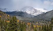 At this high altitude, snow is not uncommon in October.