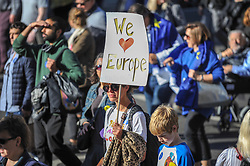 Thousands of people took to the streets of London today to demand that their democratic voice be heard on Brexit and in support of a people's vote and a final say on the Brexit deal. London, 20 October 2018.