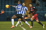 Lucas Joao (Sheffield Wednesday) runs through onto the ball in the box during the Sky Bet Championship match between Sheffield Wednesday and Queens Park Rangers at Hillsborough, Sheffield, England on 23 February 2016. Photo by Mark P Doherty.