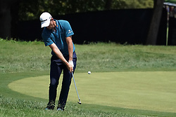 August 10, 2018 - St. Louis, Missouri, U.S. - Justin Rose chpis on to the 9th green during the second round of the 100th PGA Championship at Bellerive Country Club. (Credit Image: © Debby Wong via ZUMA Wire)
