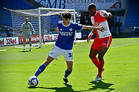 Football - 2020 / 2021 Sky Bet Championship - Cardiff City vs Wycombe Wanderers - Cardiff City Stadium<br /> <br /> Perry Ng Cardiff City & Uche Ikpeazu Wycombe Wanderers<br /> <br /> COLORSPORT/WINSTON BYNORTH
