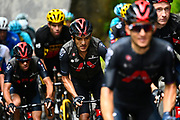 LE GRAND BORNAND, FRANCE - July 03 : CARAPAZ Richard (ECU) of INEOS GRENADIERS during stage 8 of the 108th edition of the 2021 Tour de France cycling race, a stage of 150,8 kms between Oyonnax and Le Grand Bornand on July 3, 2021 in Le Grand Bornand, France, 3/07/2021