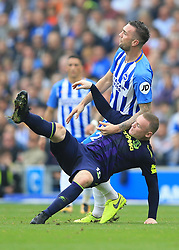 15 October 2017 -  Premier League - Brighton and Hove Albion v Everton - Wayne Rooney of Everton tangles with Shane Duffy of Brighton and Hove Albion - Photo: Marc Atkins/Offside