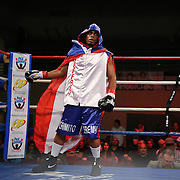 """Jeffery Ramos during the """"Boxeo Telemundo"""" boxing match at the Kissimmee Civic Center on Friday, March 14, 2014 in Kissimmme, Florida. (Photo/Alex Menendez)"""