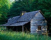 "Noah ""Bud"" Ogle Place, along Le Conte Creek southeast of Gatlinburg, Great Smoky Mountains National Park, Tennessee."