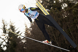 February 7, 2019 - Ljubno, Savinjska, Slovenia - Xueyao LI of China competes on qualification day of the FIS Ski Jumping World Cup Ladies Ljubno on February 7, 2019 in Ljubno, Slovenia. (Credit Image: © Rok Rakun/Pacific Press via ZUMA Wire)