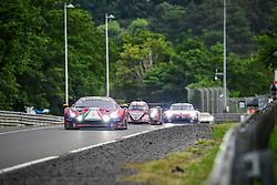 June 17, 2018 - Le Mans, France - 71 AF CORSE (ITA) FERRARI 488 GTE EVO GTE PRO DAVIDE RIGON (ITA) SAM BIRD (GBR) MIGUEL MOLINA  (Credit Image: © Panoramic via ZUMA Press)