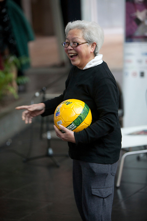 Federation Square, Melboure, 18th August 2010:  Members of the Council Of The Aged Physical Activity Group take part in activities at the launch of the 2010 Seniors Festival Program at Federation Square..Photo: Joseph Feil