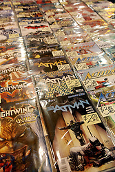 29 Jan 2012. New Orleans, Louisiana USA. <br /> Row upon row of comic books and collectibles at the Wizard World New Orleans Comic Con at the Ernest N Morial Convention Center. <br /> Photo; Charlie Varley/varleypix.com