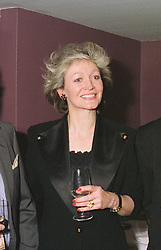 MRS TREVOR BANNISTER the Ham Polo club secretary and wife of the actor, at a party on April 22nd 1997.LXW 14 WO