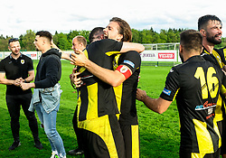 Rok Jazbec of Kalcer Radomlje celebrates after qualilfying to the First Slovenian league Prva liga during football match between NK Kalcer Radomlje and NK Brezice Terme Catez in 20th Round of 2. SNL 2020/21, on May 15, 2021 in Sports park Radomlje, Slovenia. Photo by Vid Ponikvar / Sportida