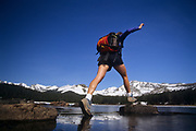 Female hiker.