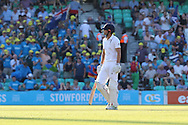 Captain Alastair Cook of England dismissed for 85 during the third day of the 5th Investec Ashes Test match between England and Australia at The Oval, London, United Kingdom on 22 August 2015. Photo by Ellie Hoad.