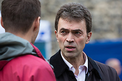 London, UK. 15th November, 2018. Tom Brake, Liberal Democrat MP for Carshalton and Wallington, appears on College Green in Westminster following the Cabinet resignations of Brexit Secretary Dominic Raab and Work and Pensions Secretary Esther McVey the day after Prime Minister gained Cabinet approval of a draft of the final Brexit agreement