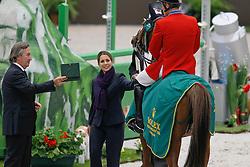 HRH Princess Haya Bint Al Houssein (JOR)<br /> Fellers Rich (USA) - Flexible<br /> Winner First Round<br /> Rolex FEI World Cup Final - Geneve 2010<br /> © Dirk Caremans
