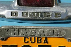 Old American car in Havana; Cuba,
