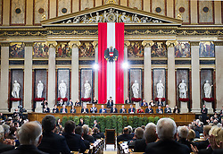 26.01.2017, Historischer Sitzungssaal, Wien, AUT, Parlament, 18. Bundesversammlung zur Angelobung des neuen Bundespräsidenten Van der Bellen, im Bild Historischer Sitzungssaal // overview during inauguration ceremony for the new federal president of austria at austrian parliament in Vienna, Austria on 2017/01/26, EXPA Pictures © 2017, PhotoCredit: EXPA/ Michael Gruber