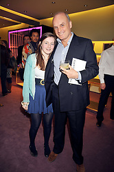 NICHOLAS COLERIDGE and his daughter SOPHIE COLERIDGE at a party to celebrate the opening of the newly refurbished Prada Store 16/18 Old Bond Street, London on 16th February 2009.