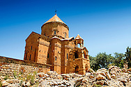 10th century Armenian Orthodox Cathedral of the Holy Cross on Akdamar Island, Lake Van Turkey 69 .<br /> <br /> If you prefer to buy from our ALAMY PHOTO LIBRARY  Collection visit : https://www.alamy.com/portfolio/paul-williams-funkystock/lakevanturkey.html<br /> <br /> Visit our TURKEY PHOTO COLLECTIONS for more photos to download or buy as wall art prints https://funkystock.photoshelter.com/gallery-collection/3f-Pictures-of-Turkey-Turkey-Photos-Images-Fotos/C0000U.hJWkZxAbg