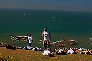Vila Velha_ES,  Brasil...Projeto Educacao Ambiental Bady Boarding, Morro do Moreno em Vila Velha...Bady Boarding environmental education project in Morro do Moreno, Vila Velha...Foto: LEO DRUMOND / NITRO
