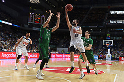 May 31, 2017 - Madrid, Madrid, Spain - Sergio Llul (R), #23 of Real Madrid in action during the first game of the semifinals of basketball Endesa league between Real Madrid and Unicaja de Málaga. (Credit Image: © Jorge Sanz/Pacific Press via ZUMA Wire)
