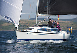 Sailing - SCOTLAND  - 25th-28th May 2018<br /> <br /> The Scottish Series 2018, organised by the  Clyde Cruising Club, <br /> <br /> First days racing on Loch Fyne.<br /> <br /> GBR6917T, Celtic Spirit, Brian Robertson, CCC, X332<br /> <br /> Credit : Marc Turner<br /> <br /> <br /> Event is supported by Helly Hansen, Luddon, Silvers Marine, Tunnocks, Hempel and Argyll & Bute Council along with Bowmore, The Botanist and The Botanist