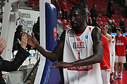 DESCRIZIONE: Varese FIBA Europe cup 2015-16 <br /> Openjobmetis Varese vs Sodertalje Kings<br /> GIOCATORE: Mouhammad Faye<br /> CATEGORIA: postgame esultanza<br /> SQUADRA: Openjobmetis Varese<br /> EVENTO: FIBA Europe Cup 2015-2016<br /> GARA: EA7 Openjobmetis Varese Sodertalje Kings<br /> DATA: 22/12/2015<br /> SPORT: Pallacanestro<br /> AUTORE: Agenzia Ciamillo-Castoria/A. Ossola<br /> Galleria: FIBA Europe Cup 2015-2016<br /> Fotonotizia: Varese FIBA Europe Cup 2015-16 <br /> Openjobmetis Varese Sodertalje Kings