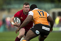 September 9, 2017 - Limerick, Ireland - Dave Kilcoyne of Munster tackled by Ox Nche of Cheetahs during the Guinness PRO14 rugby match between Munster Rugby and Cheetahs Rugby at Thomond Park in Limerick, Ireland on September 9, 2017  (Credit Image: © Andrew Surma/NurPhoto via ZUMA Press)