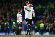 Kyle Walker of Tottenham Hotspur looking dejected as Chelsea players celebrate a goal.. Premier league match, Chelsea v Tottenham Hotspur at Stamford Bridge in London on Saturday 26th November 2016.<br /> pic by John Patrick Fletcher, Andrew Orchard sports photography.