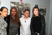 """October 20, 2012-New York, NY: (L-R) Martha Diaz, Hip Hop Scholar-in-Residence, The Schomburg Center, Producer Lisa Cortes, Vee Bravo, Education Director, Tribeca Film Institute, and Jane Rosenthal, Co-founder, The Tribeca Film Institute at From Beat Street to These Streets: Hip Hop Then and Now panel discussion and special screening of """" Beat Street"""" co-hosted by the Schomburg Center, the Tribeca Youth Screening Series & Belafonte Enterprises and held at The Schomburg Center on October 20, 2012 in Harlem, New York City  (Terrence Jennings)"""