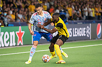 BERN, SWITZERLAND - SEPTEMBER 14: Ulisses Garcia of BSC Young Boys and Diogo Dalot of Manchester United during the UEFA Champions League group F match between BSC Young Boys and Manchester United at Stadion Wankdorf on September 14, 2021 in Bern, Switzerland. (Photo by FreshFocus/MB Media)