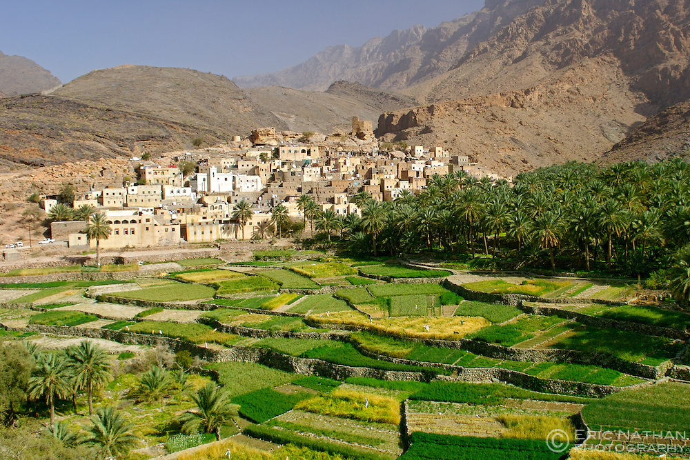 The village of Bilad Seet in Wadi Bani Auf in the Jebel Akhdar mountains of Oman.