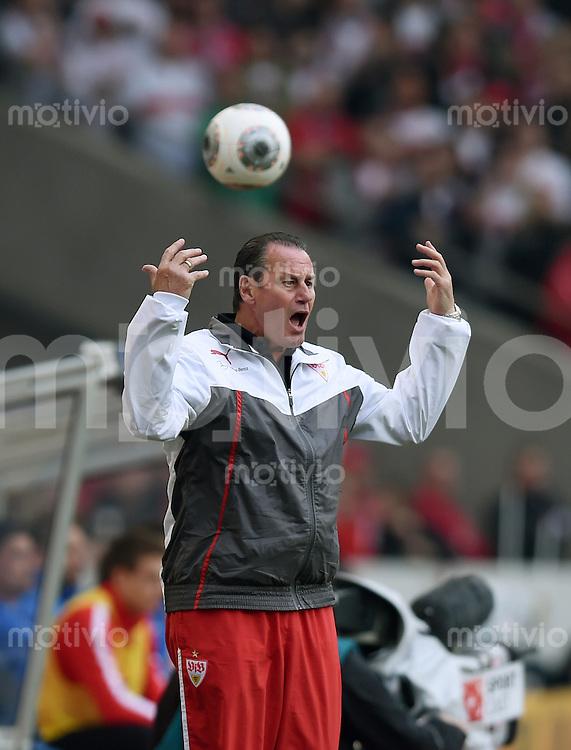 Fussball  1. Bundesliga  Saison 2013/2014  29. Spieltag VfB Stuttgart - SC Freiburg       05.04.2014 Trainer Huub Stevens (VfB Stuttgart)
