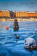 is vinter Skeppsholmen Nybroviken Stockholm