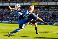Photo: Alan Crowhurst.<br />Wycombe Wanderers v Lincoln City. Coca Cola League 2. 23/09/2006. Tommy Mooney of Wycombe attempts a shot on goal.