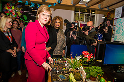 Pictured: Nicola Sturgeon, MSP<br /> <br /> Nicola Sturgeon, MSP, paid a visit today to Shakti Women's Aid in Edinburgh today to campaign against the Rape Clause. <br /> Ger Harley   EEm 25 April 2017
