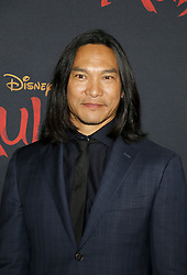 Jason Scott Lee at the World premiere of Disney's 'Mulan' held at the Dolby Theatre in Hollywood, USA on March 9, 2020.
