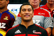 Crusaders player Robbie Fruean. Super 14 rugby union. 2010 Rebel Sport Super 14 New Zealand squads naming press conference. Auckland, New Zealand. Wednesday 11 November 2009. © Copyright Photo: www.photosport.nz