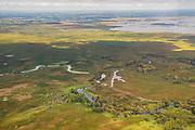 Aerial photograph of Horicon Marsh, near Horicon, Wisconsin, USA.