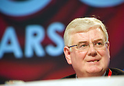 Eamon Gilmore  at the Labour conference in the Bailey hall in NUIG. Photo:Andrew Downes