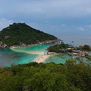 Beautiful island Nang Yuan panorama, near Ko Tao island, Thailand