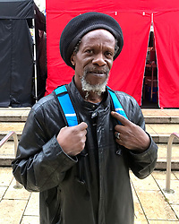 Louis Smart, who came to Britain on the Windrush ship as a child in 1963, travelling on his mother's passport. He did not register for citizenship at the time, and has now found it difficult to prove his status as a legal citizen.