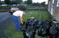 Council caretaker working on estate UK