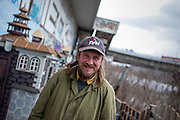 Homeless Jarda decided to take his fortune into his own hands and built a castle out of garbage and other rubbish under a highway bridge by the Vltava River in Prague.