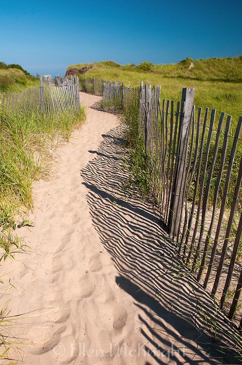 Path to Crescent Beach at Block Island, Rhode Island