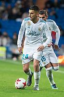 Real Madrid Dani Ceballos and Theo Hernandez during King's Cup match between Real Madrid and CD Numancia at Santiago Bernabeu Stadium in Madrid, Spain. January 10, 2018. (ALTERPHOTOS/Borja B.Hojas)