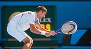Novak Djokovic(SRB) faced Italian tennis bad boy F. Fognini in day seven of the 2014 Australian Open in Melbourne. Djokovic won over Fognini 3-6, 0-6, 2-6.