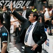 Efes Pilsen's coach Ergin ATAMAN during their Turkish Basketball league Play Off semi final second leg match Besiktas between Efes Pilsen at the BJK Akatlar Arena in Istanbul Turkey on Wednesday 12 May 2010. Photo by Aykut AKICI/TURKPIX