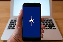 NATO home page on iPhone smart phone mobile phone